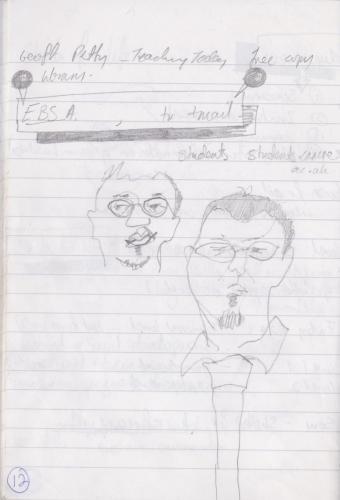 Notebook Sketching work colleagues