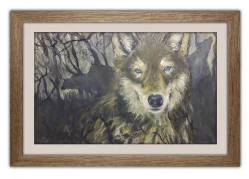 Wolf. Acrylic