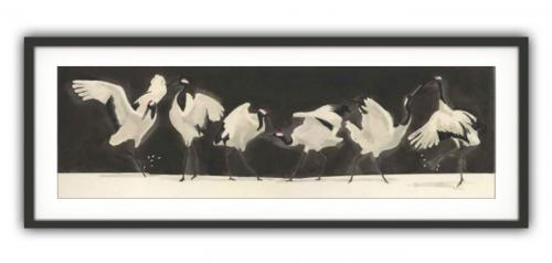 Red Crowned CranesGiclee print